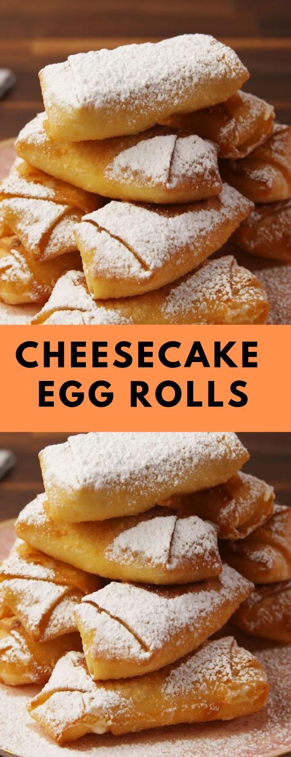 Cheesecake Egg Rolls #dessert #eggroll #cheesecake #snack