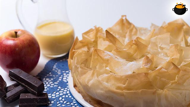 En esta receta os muestro cómo hacer una tarta de manzana fácil con pasta filo, una receta muy fácil y con un acabado impresionante