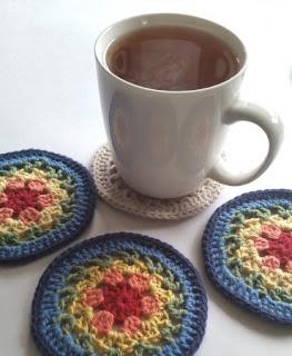 exemplo porta copos de croche flores de crochê