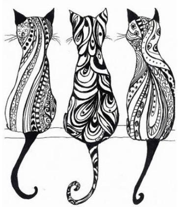 Трафареты котов шаблоны