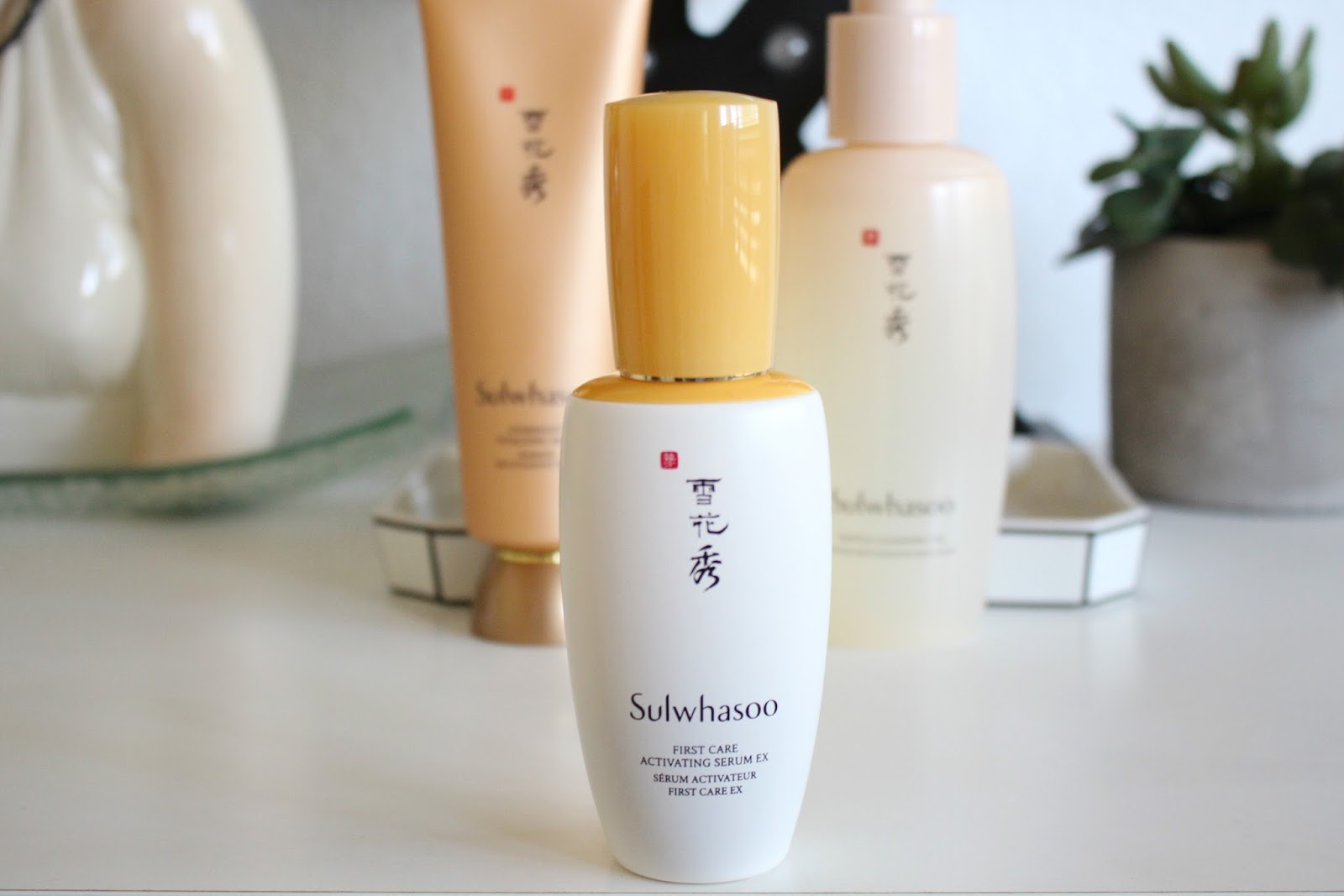 sulwhasoo gentle cleansing oil, sulwhasoo overnight vitalizing mask, sulwahsoo first care activating serum ex