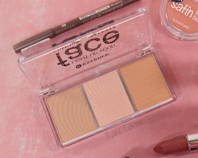 Essence Light Up Your Face Luminizer Palette Swatches & Review