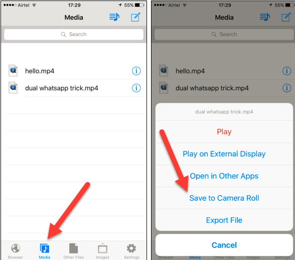 How to download a video from facebook to my phone dagreenwing in addition you could opt to conserve the video clip to electronic camera roll or share with other apps like whatsapp and also twitter ccuart Images