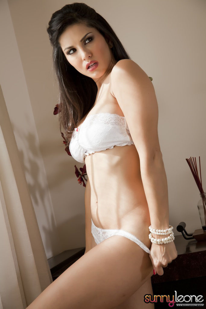 Sunny Leone Exclusive Sexy Photoshoot In White Bikini -5630