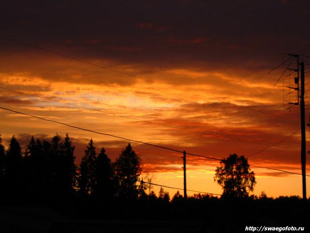 Закат в посёлке Семигородняя.