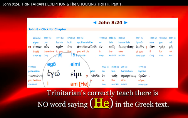 there is NO word saying (He), in the Greek text.