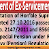 Grant of Special Pension under Regulation 95 of Navy (Pension) Regulations, 1964 - Implementation of Hon'ble Supreme Court order dated 27.10.2016