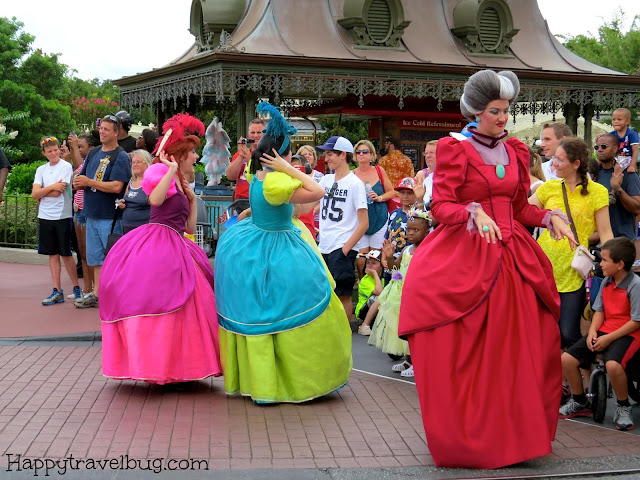 The wicked step-sisters and mother from Cinderella