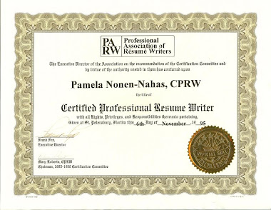 Certified professional resume writing services