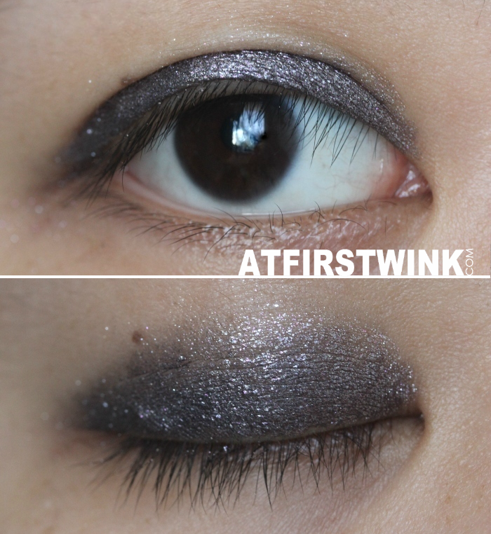 swatches as eyeshadow: GOSH Forever eye shadow metallic eye shadow stick 06 - Plum
