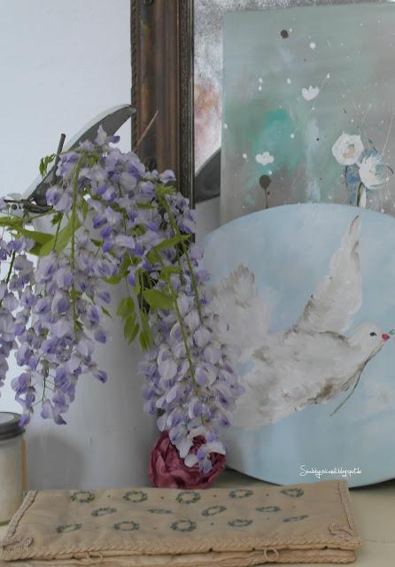 Shabby Chic romantische Blumen Malerei