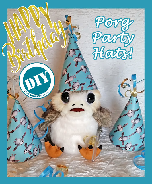 Porg Birthday Party Hats and Supplies - Star Wars theme