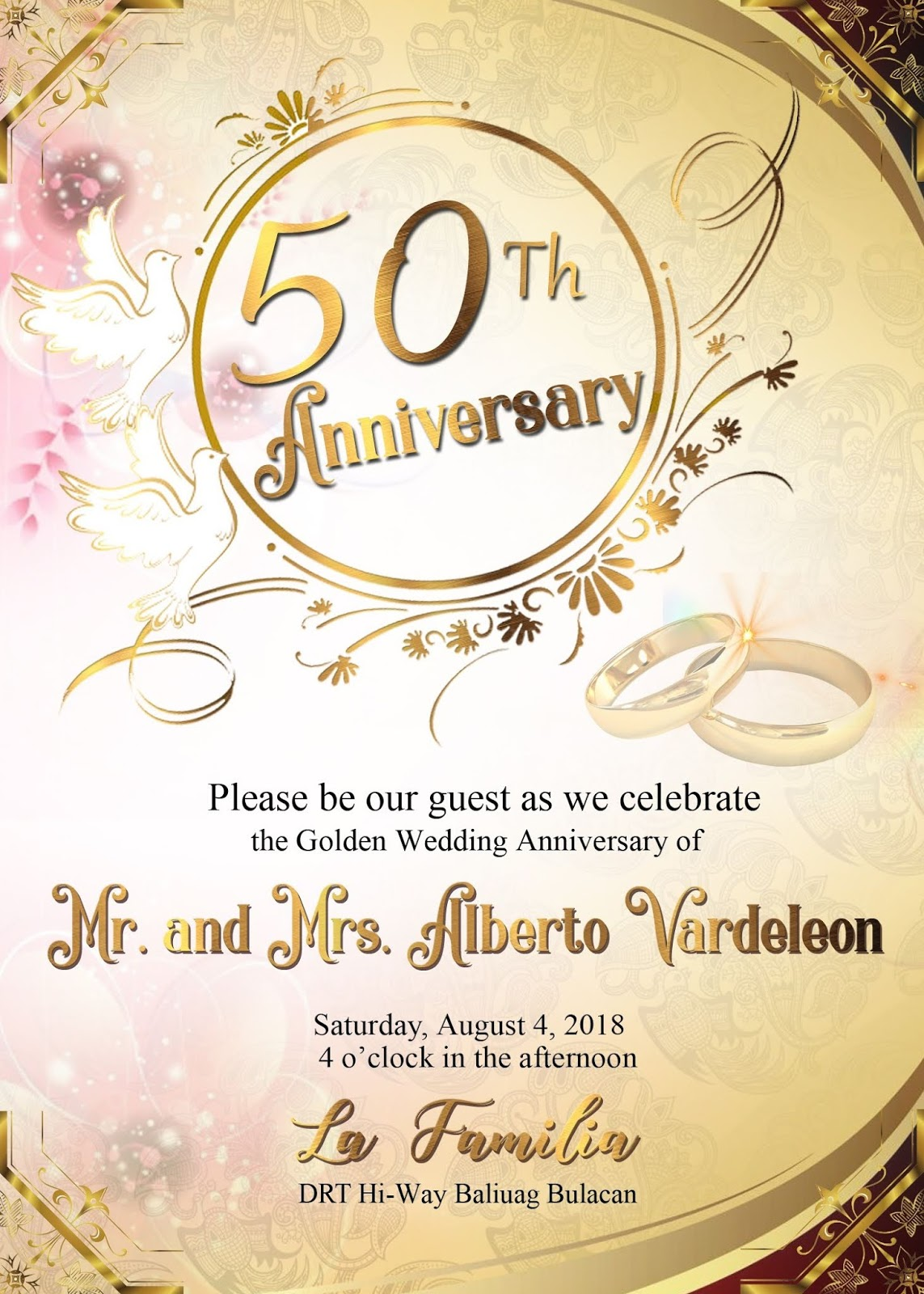50th wedding anniversary sample invitation card - GET LAYOUT TEMPLATES THEMES AND DESIGN