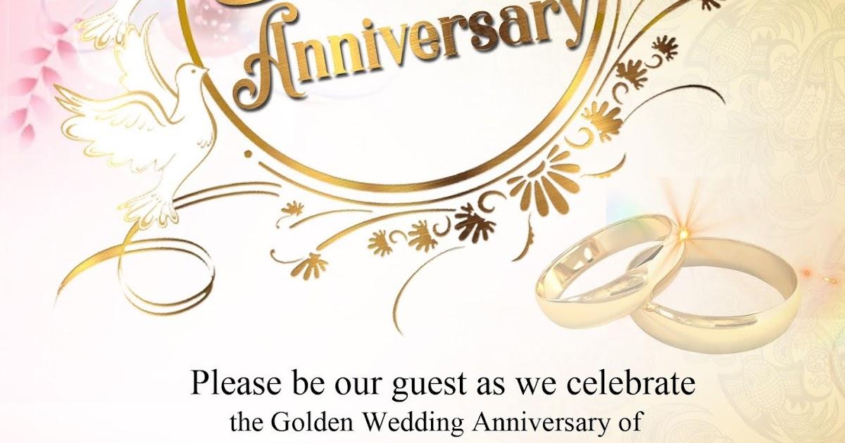50th wedding anniversary sample invitation card  get layout