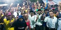 <b>Blusukan LUTFI-FERI Disambut Meriah Ribuan Warga Jatibaru Barat</b>