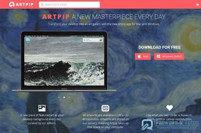 Artpip : des œuvres d'art comme fond d'écran