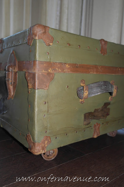 Fern Avenue Blog WWII Navy Trunk Repurpose