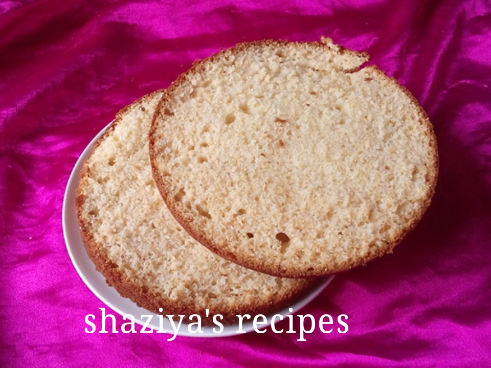 Basic Cake Recipe In Pressure Cooker: Shaziya'srecipes: EGGLESS VANILLA SPONGE CAKE RECIPE FOR