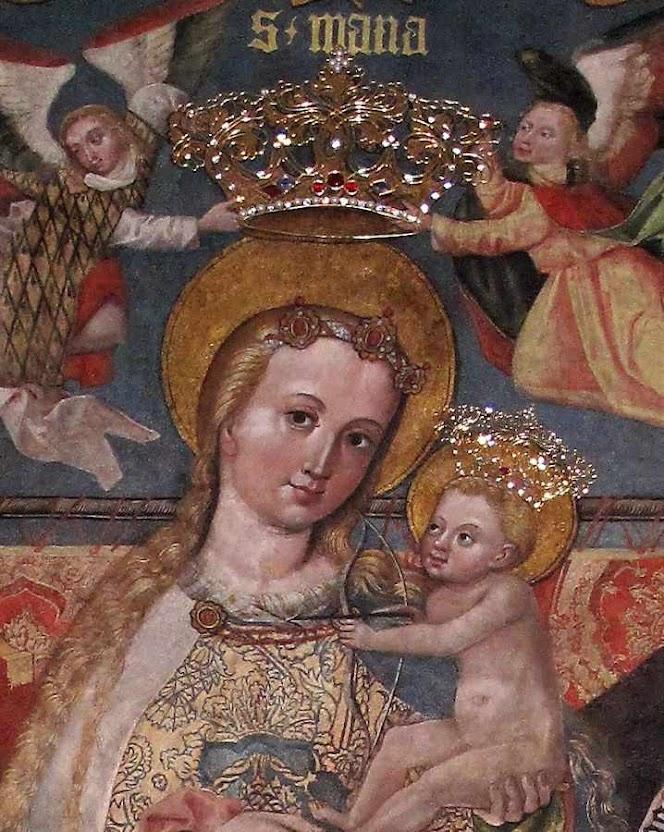 Nossa Senhora da Consolação coroada,  igreja de Santa Catarina, Cracóvia, Polônia.