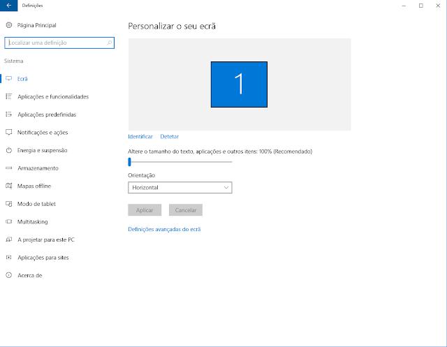 Definições Windows