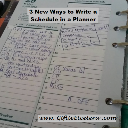 3 New Ways to Write a Schedule in a Planner
