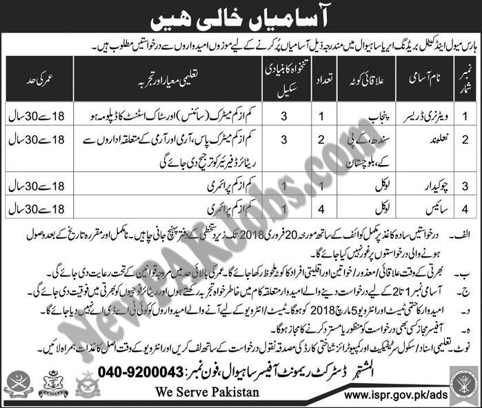 Horse Mule and Cattle Breeding Area Jobs  2018
