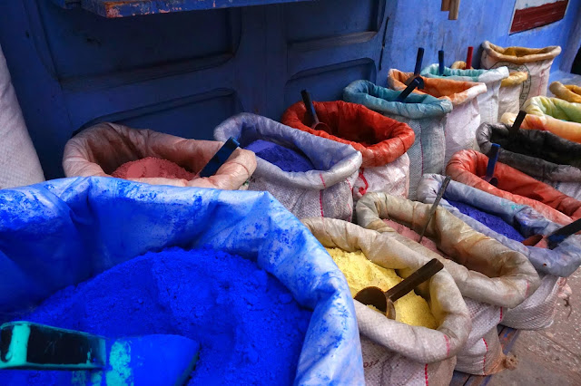 Chefchaouen, Morocco, colors
