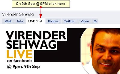 Virender Sehwag on Facebook Live chat