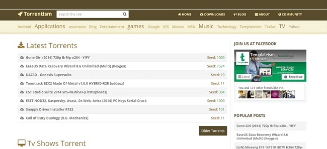 Torrent Blogger Template