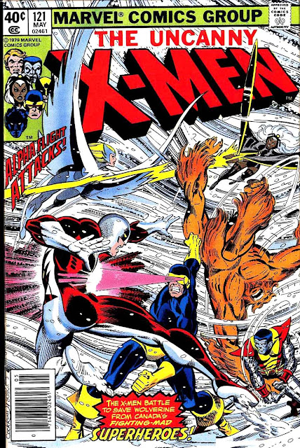 X-men v1 #121 marvel comic book cover art by John Byrne
