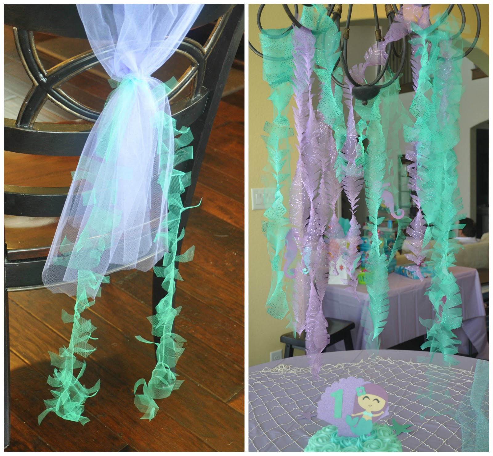 These Little Loves Sparkly Mermaid Seaweed A Diy Party Decoration