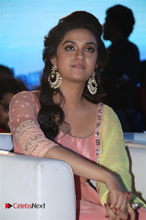 Actress Keerthy Suresh Pictures in Salwar Kameez at Remo First Look and le Track Launch 0051