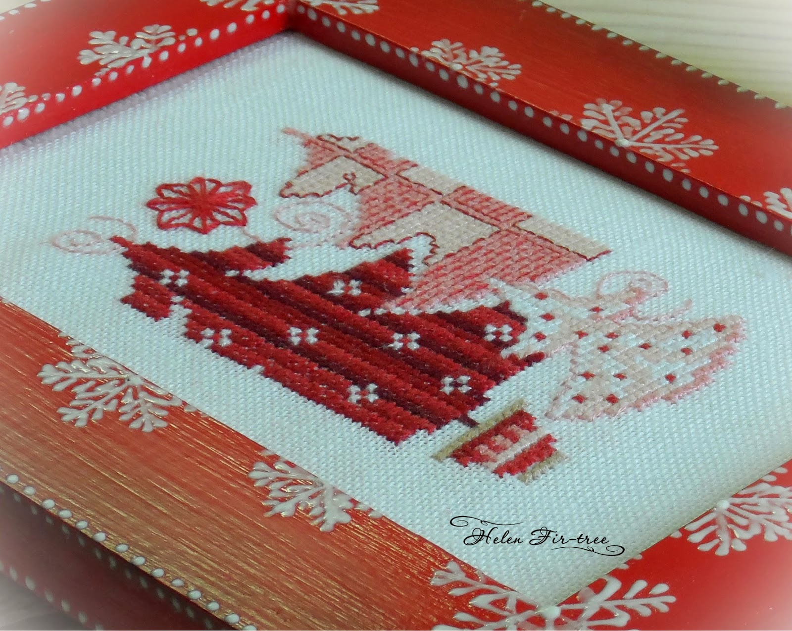Helen Fir-tree вышивка cross-stitch Vervaco