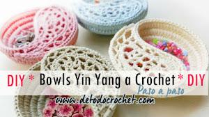 Platos Yin Yang a Crochet / DIY