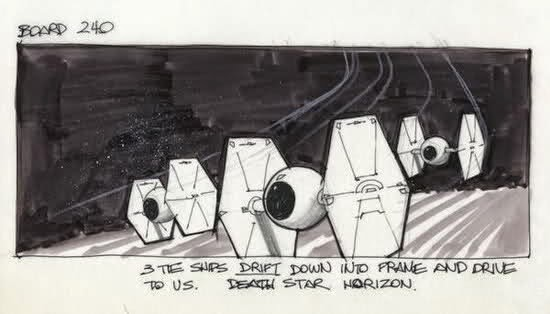 tie fighter story board star wars