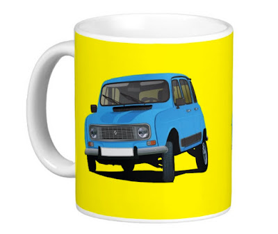 Renault 4 shirt coffee mugs