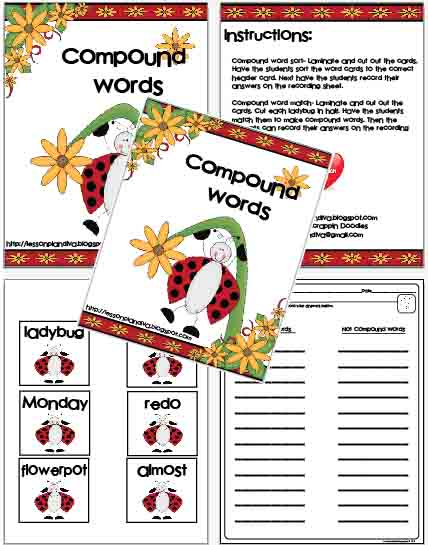 Freebie! Compound Words - The Lesson Plan Diva - lesson plan words