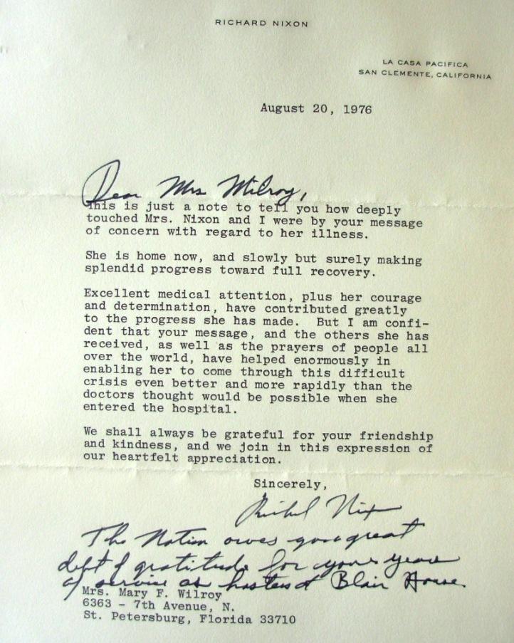 President Richard M Nixon - nixon resignation letter