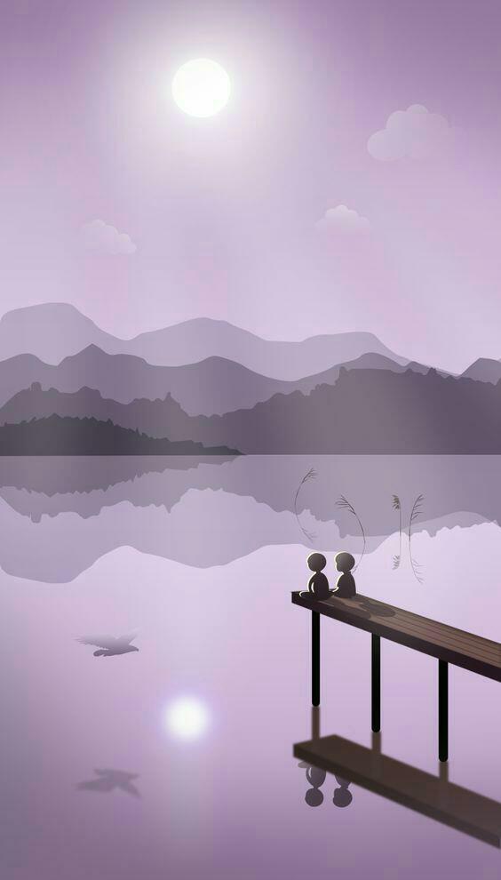 Free Mobile Wallpaper Friends Talking Under Darkish Sky At Night Romantic Theme