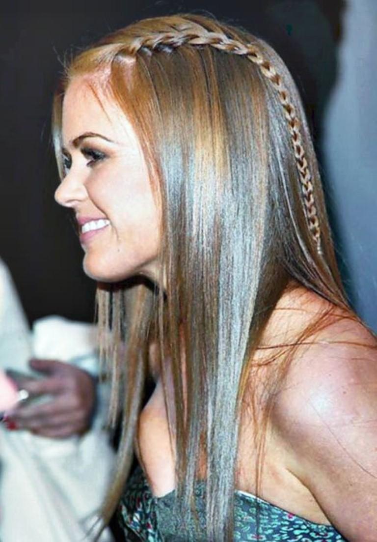 """Acogedor peinados con diademas en la frente Imagen de estilo de color de pelo - Moda Cabellos: Trenzas en el pelo suelto """"Super juvenil"""" 2015"""