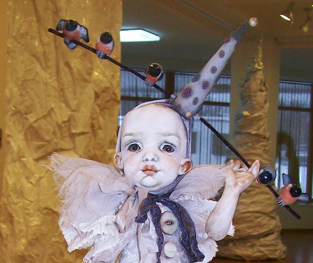 """Ксения Мингалёва (п. Усть - Кинельский) """"Снеговик"""" Выставка авторской куклы в Самаре """"Куклы. Эмоции. Чувства."""""""