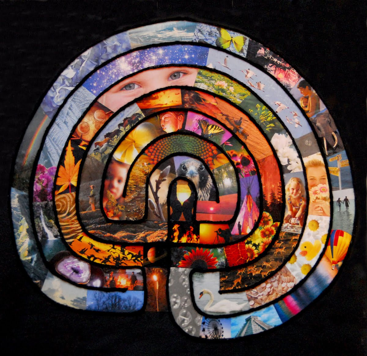 Create your own Collage Labyrinth