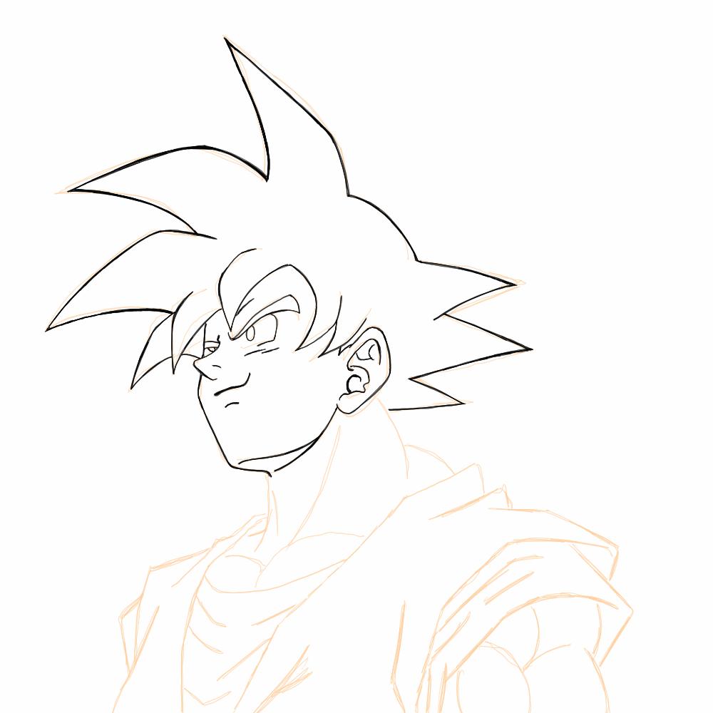 Fabuloso Como Desenhar Goku Passo A Passo PW54