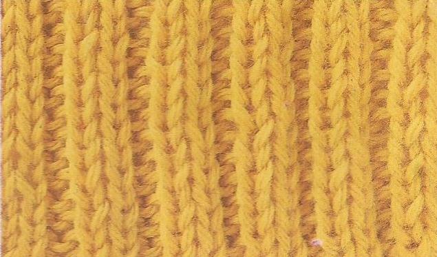 Patrón #1863: Como tejer punto elástico a dos agujas