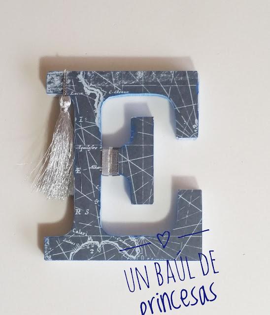 Letra E decorada