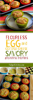Flourless Egg and Cottage Cheese Savory Breakfast Muffin Recipe found on KalynsKitchen.com