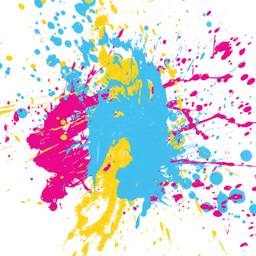 Big Canvas Art Modern Watercolor Abstract Ink Splash Big: Pride And Pearls: Paint Splatter Fun