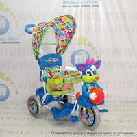 Sepeda Roda Tiga Royal RY8582CJ Baby Ball Dobel Musik Jok Kain