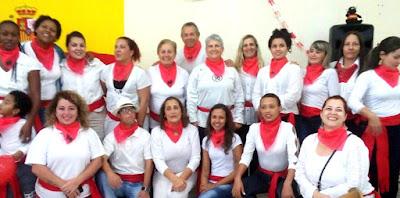 Festa de San Fermín na Escola Escola Municipal de Idiomas na Ilha Comprida