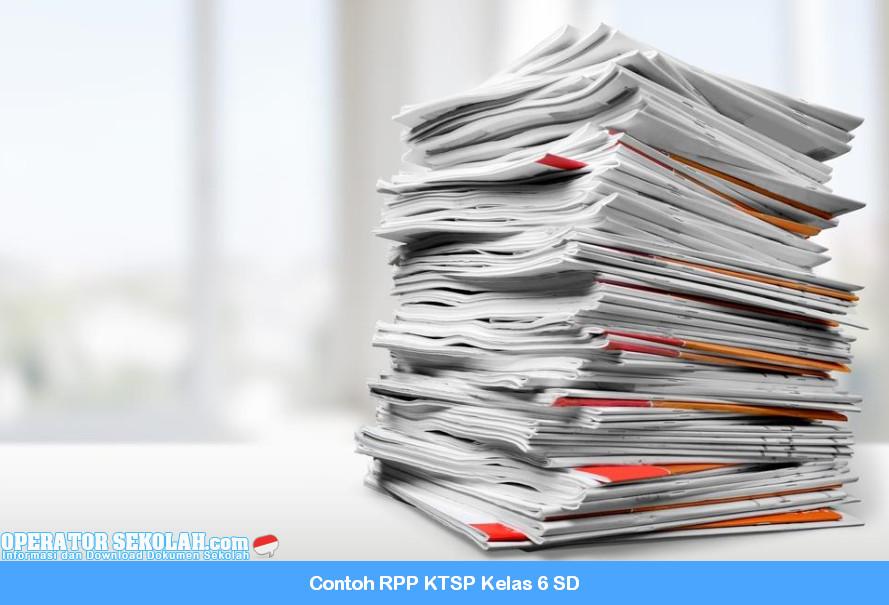 Contoh RPP KTSP Kelas 6 SD